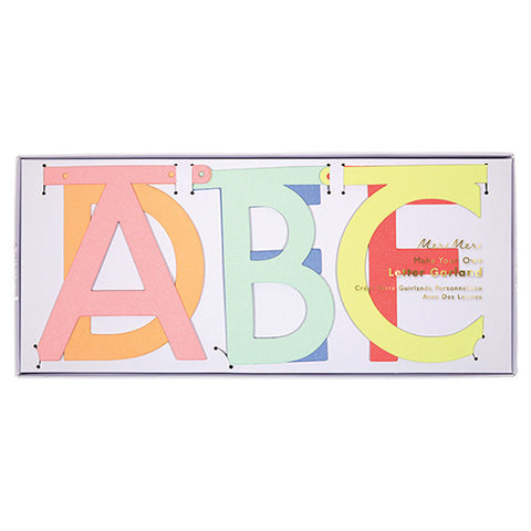 Multi Color Letter Garland