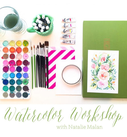 Watercolor Floral Workshop - Friday January 20th