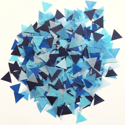 Blue Triangle Confetti Balloon Kit