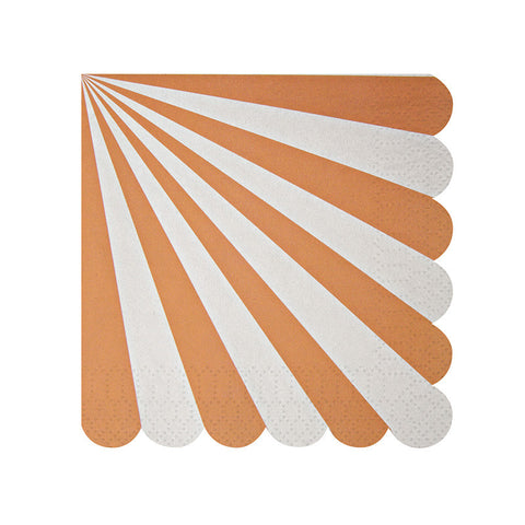 Orange Stripe Small Napkins