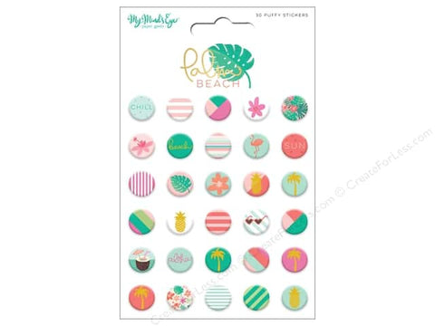 Palm Beach Puffy Stickers