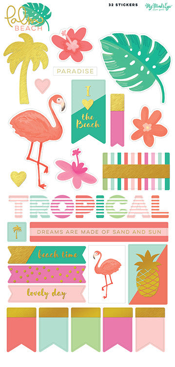 Palm Beach 6 x 12 Sticker Sheet