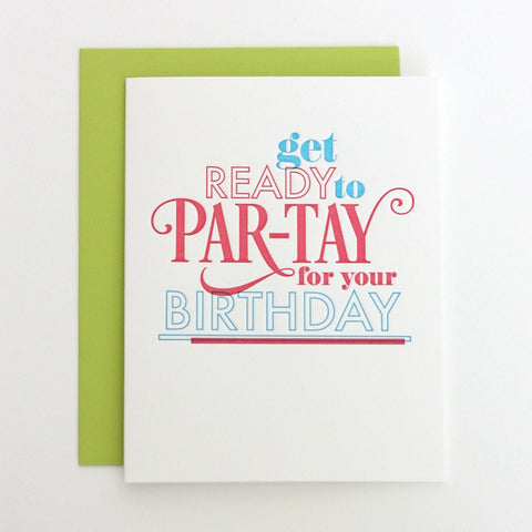Get Ready to PAR-TAY card
