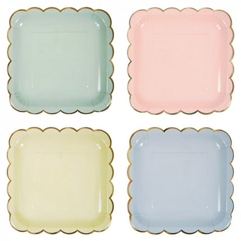 Pastel Paper Plates - Small