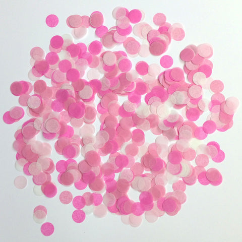 Shades of pink confetti
