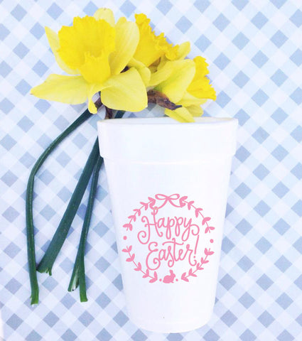 Happy Easter Styrofoam Cups
