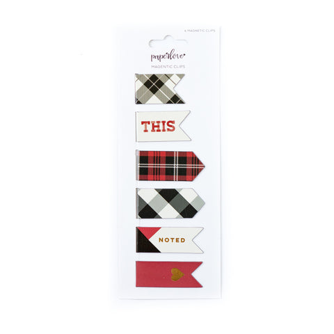 Plaid Magnet Clips
