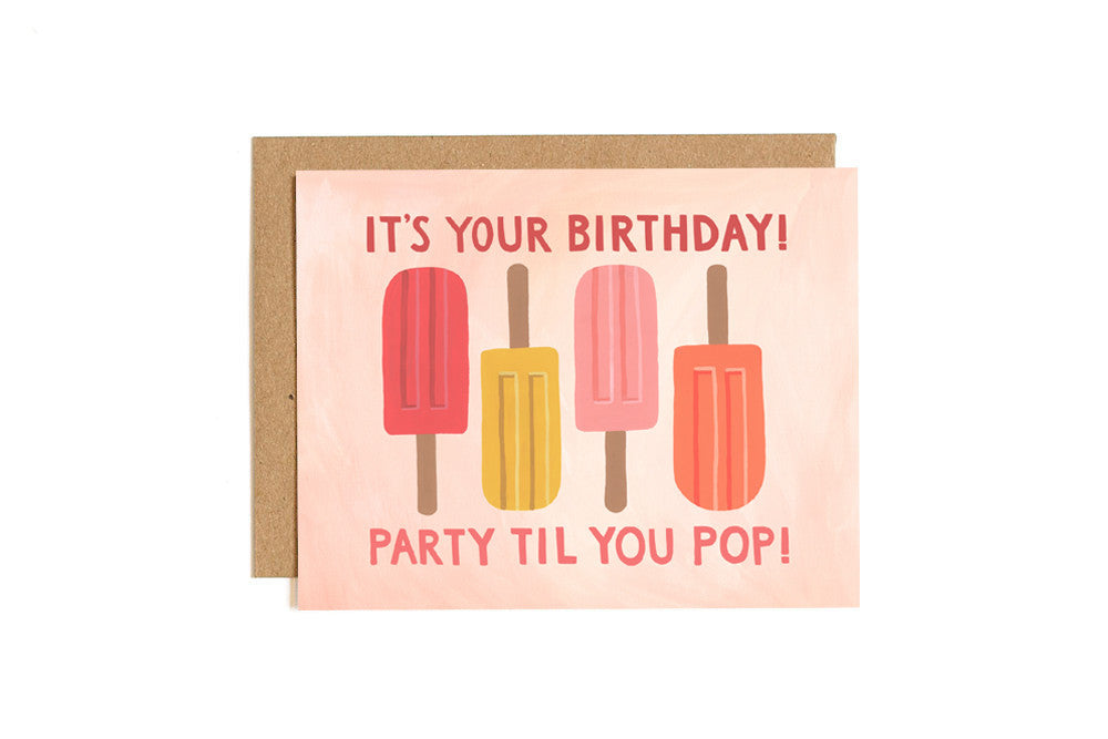 Popsicle Birthday Card