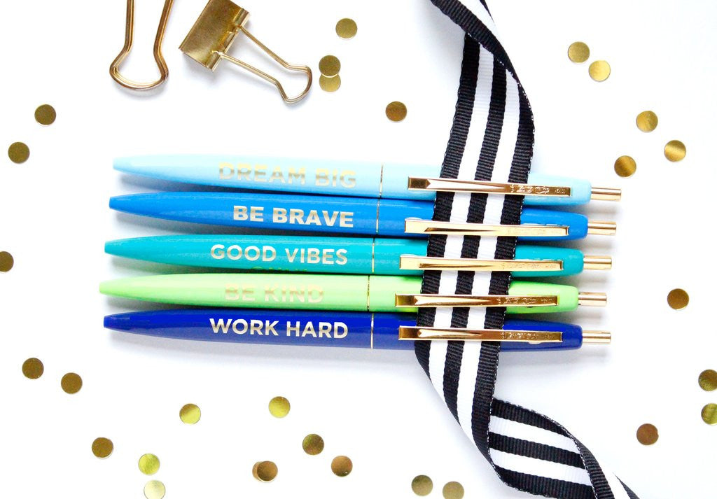 Positive Pens, set of 5