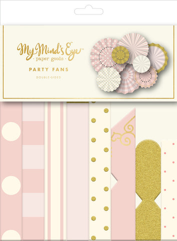 Pink & Gold Paper Fans