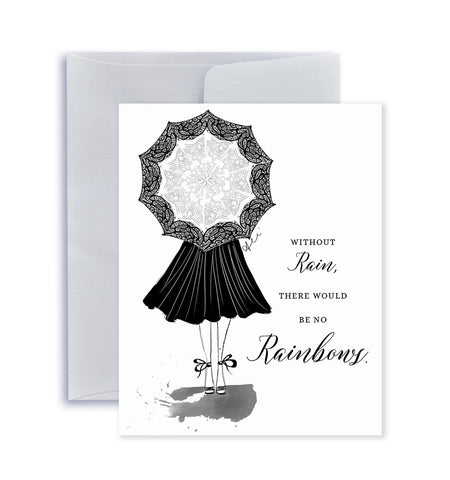 Rain & Rainbows Greeting Card