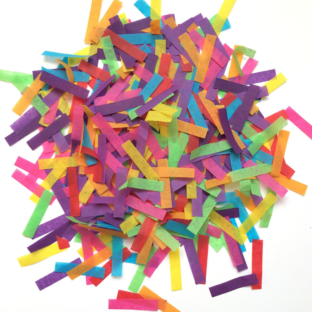 Bright Rainbow Stick Confetti