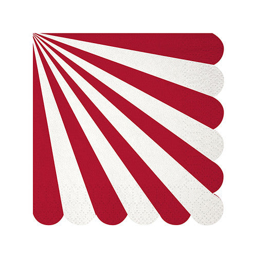 Red and White Stripe Small Napkins