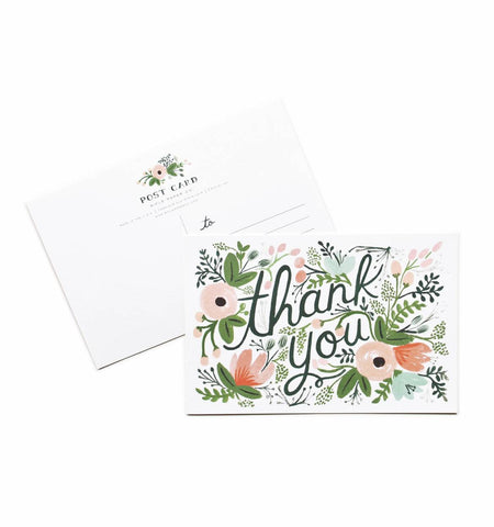 Rifle Paper Co Wildflower Thank You Postcards