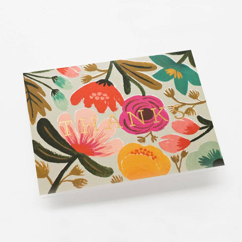 Floral Thank You card from Rifle Paper Co.