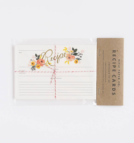 Peony Floral Recipe Cards