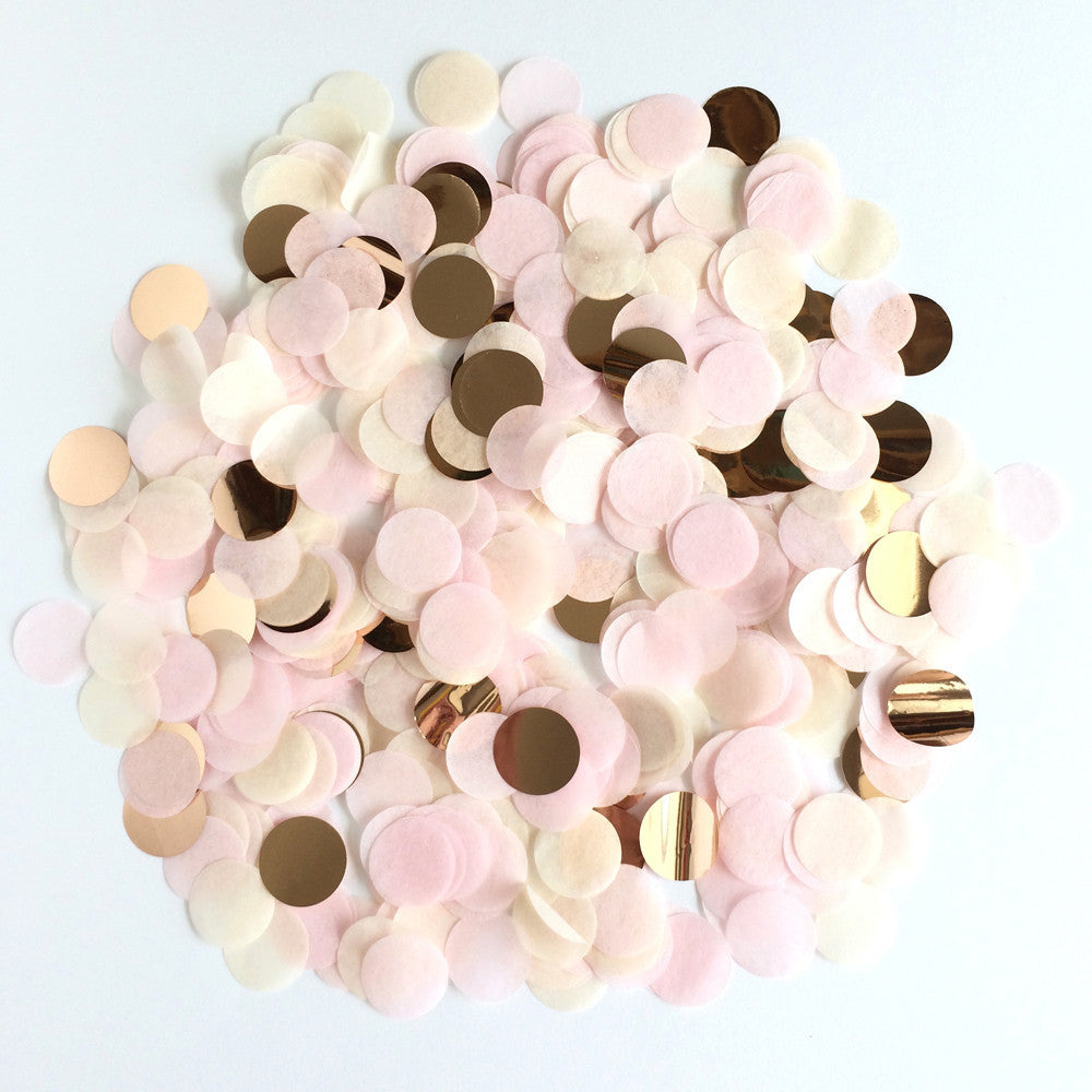"Rose Gold 1"" Circle Confetti"