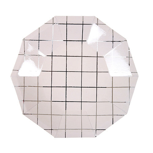 Silver Grid Plates - Small