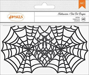 Small Halloween Spider Web Doilies