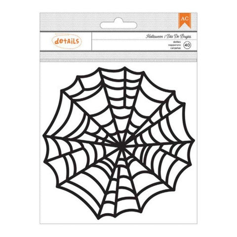 Large Halloween Spider Web Doilies