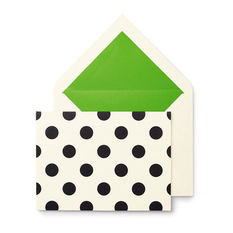 Spot on Note Card Set (black dots)