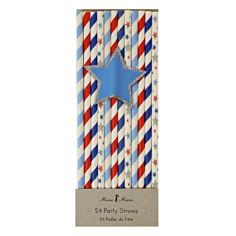 Stars and Stripes Straws