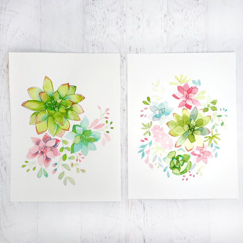 Watercolor Succulent Workshop - Friday August 25th