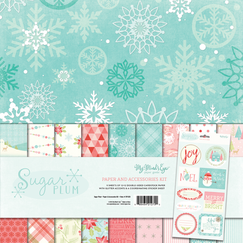 Sugar Plum Christmas Paper & Accessories Kit
