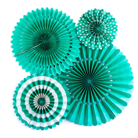 Teal Green Paper Fans