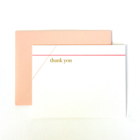 Criss Cross Thank You Notecard
