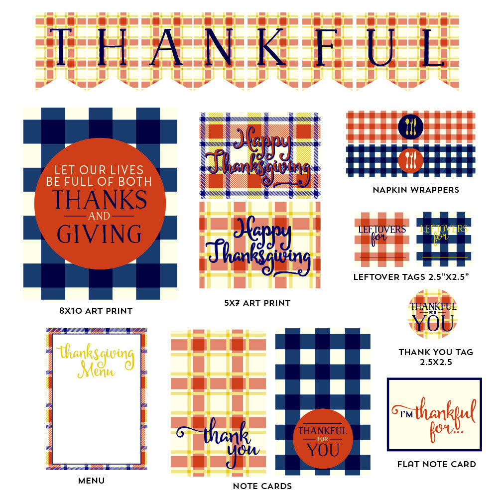 Thanksgiving printables - a collection of printable PDF's to get you ready for Thanksgiving