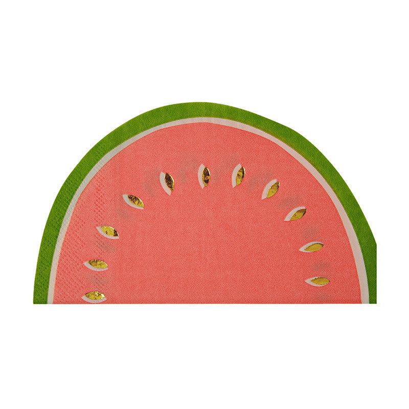 Watermelon Napkins shaped like a slice of watermelon!