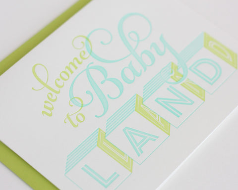Welcome to Baby Land Card - Boy