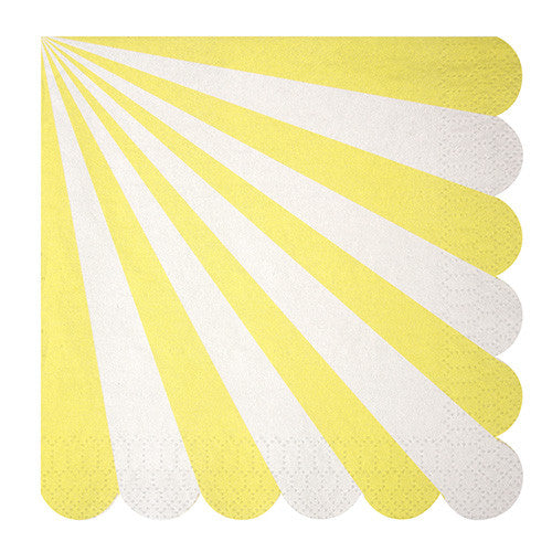Yellow and White Stripe Large Napkins