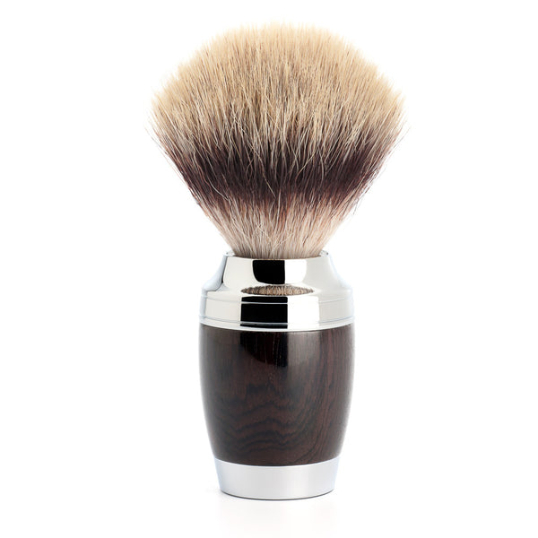 STYLO shaving brush, Silvertip Fibres©, African blackwood