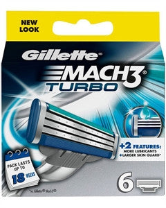 Gillette Mach 3 Turbo - 6 barberblade