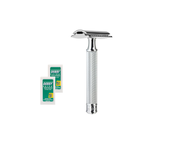 Barbersæt - Mühle R89 safety razor + 10 barberblade