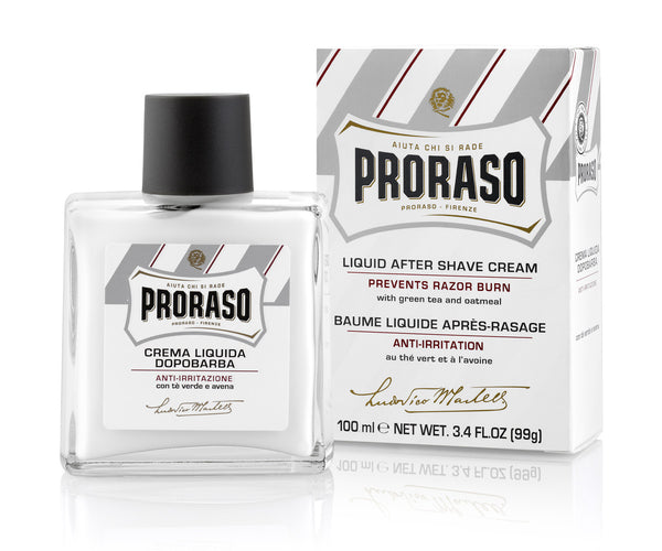 Proraso Liquid Cream Aftershave – Oatmeal & Green tea, 100ml