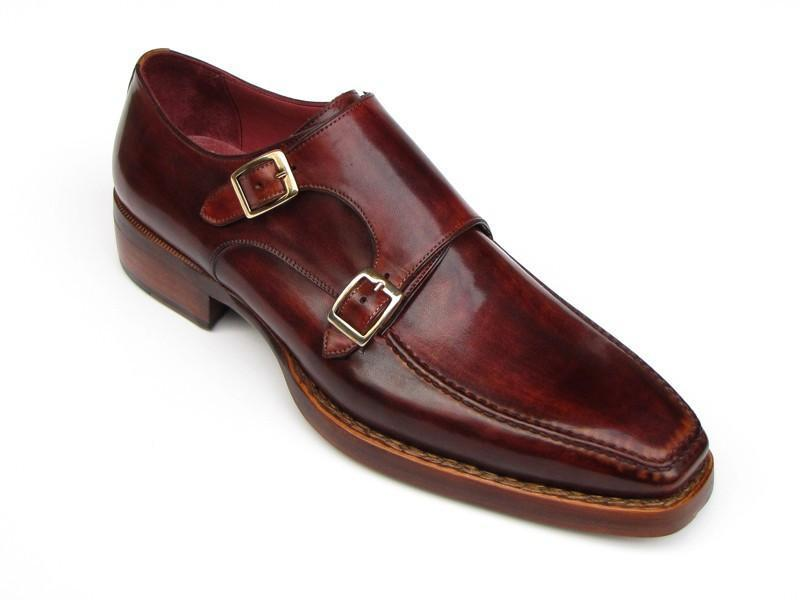 Paul Parkman Men's Double Monkstrap Goodyear Welted Shoes (ID#061-BRD) - dreadavinci