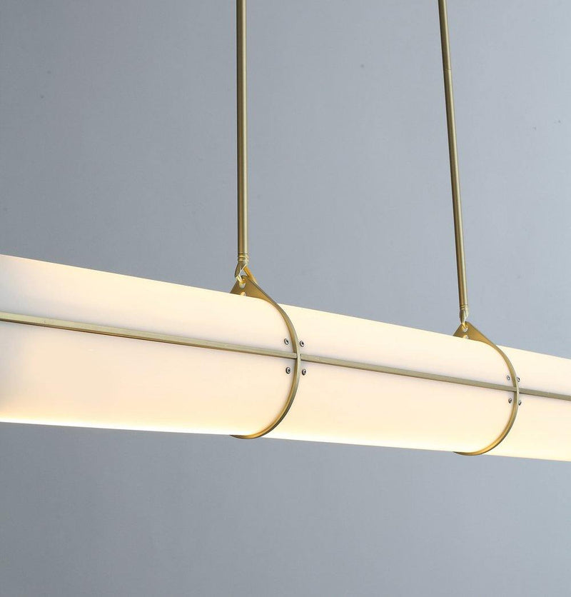 Lesly Pendant Lamp - Gold+White