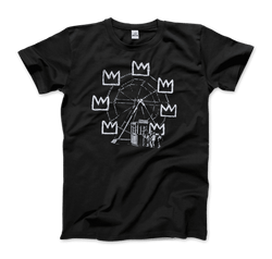 Banksy Ferris Wheel Homage to Basquiat Artwork T-Shirt - dreadavinci