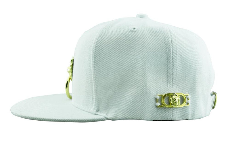 White Snapback Hat - dreadavinci