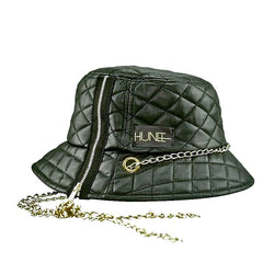 Eye Hunee Black Quilted Bucket Hat - dreadavinci