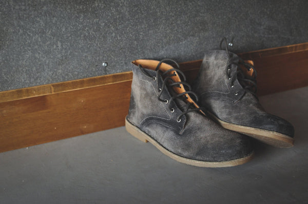 The Grover | Burnished Grey Suede - dreadavinci