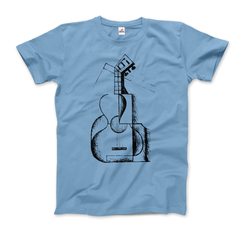Juan Gris the Guitar 1912 Artwork T-Shirt - dreadavinci