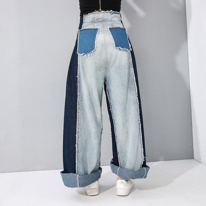 Maaya High Waist Denim Wide Leg Pants - dreadavinci