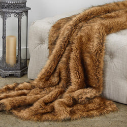 Tip Dyed Fox Faux Fur Luxury Throw - dreadavinci