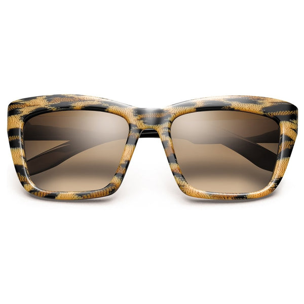 Bonnie: Polished Leopard - Polished Black / Bronze Gradient Lens - dreadavinci