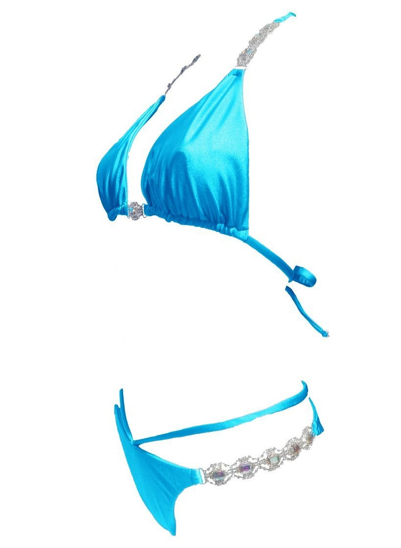 Shanel Triangle Top & Strappy Tango Bottom - Turquoise - dreadavinci