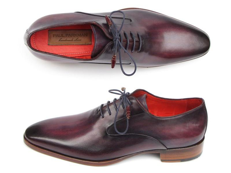 Paul Parkman Men's Plain Toe Oxfords Purple Shoes (ID#019-PURP) - dreadavinci